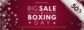 Maroon Boxing Day Deals Banner Design