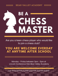 Maroon Chess Club Registration Poster