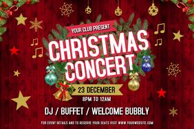 Maroon Christmas Concert Landscape Poster