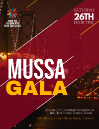 Maroon Gala Event Flyer