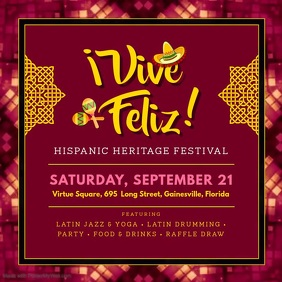 Maroon Hispanic Heritage Month Event Video Ad