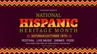 Maroon Hispanic Heritage month signage template