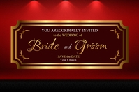 Maroon Invitation Label template