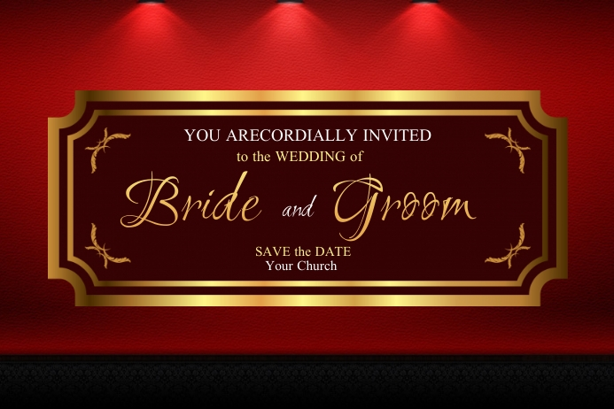 Maroon Invitation Etiqueta template