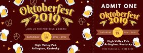 Maroon Oktoberfest Ticket Template Zdjęcie w tle na Facebooka
