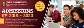 Maroon University Enrollment Banner Design template