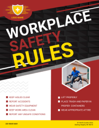 Maroon Work Safety Construction Guidelines Fl