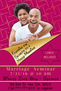 Marriage Seminar Template