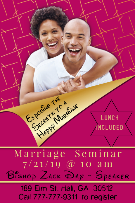 Marriage Seminar Template Poster