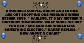 MARRIED COUPLE JOKE QUOTE TEMPLATE Facebook Ad