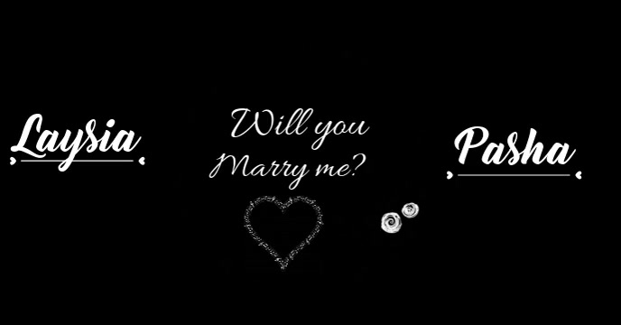 Marry me video template