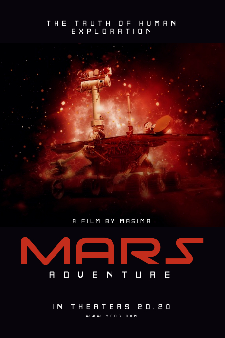 Mars Movie Poster Affiche template