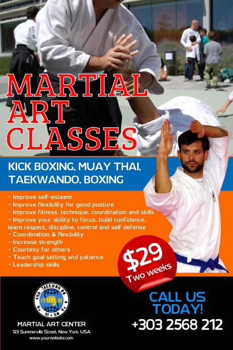 Martial Art Classes Poster