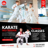 Martial Art Lessons Ad Instagram Plasing template