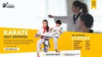 Martial Arts Class Ad Film w tle na Facebooka (16:9) template
