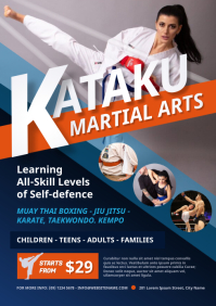 Martial Arts Class Flyer A4 template