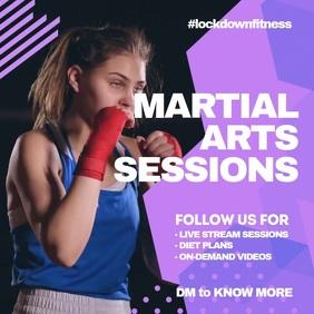 Martial arts class virtual