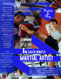 Martial Arts Flyer (US Letter) template
