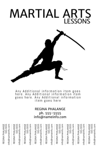 Martial Arts Karate Lessons flyer design Poster template