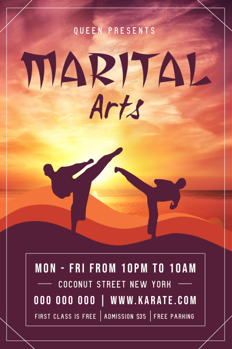 Martial Arts Poster โปสเตอร์ template
