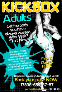 Martial arts school poster