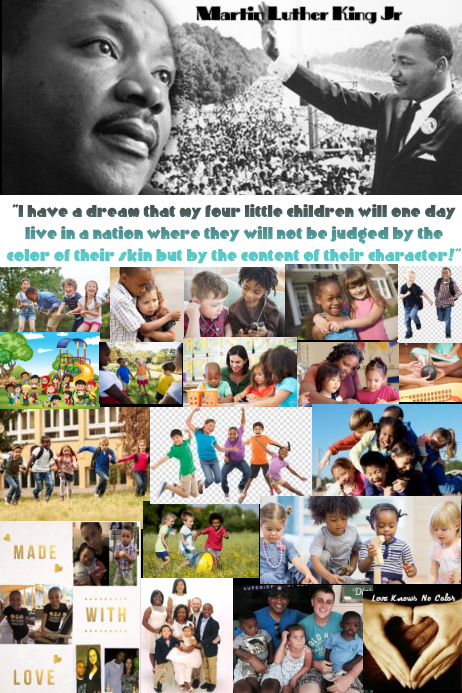 Martin Luther King Jr Poster template