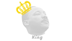 Martin Luther King Black History Month Visitekaartje template