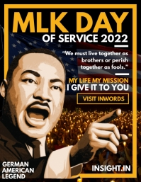 Martin Luther King Day 2021 Cover Template Folheto (US Letter)