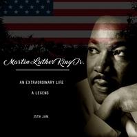 Martin Luther King Day Card ad - Publicação no Instagram template