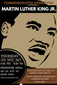 Martin Luther king day celebration Plakkaat template