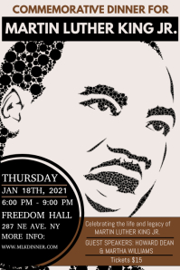 Martin Luther king day celebration Iphosta template