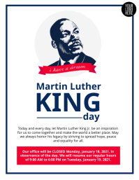 Martin Luther King Day Ulotka (US Letter) template