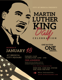 Martin Luther King Day Flyer (format US Letter) template