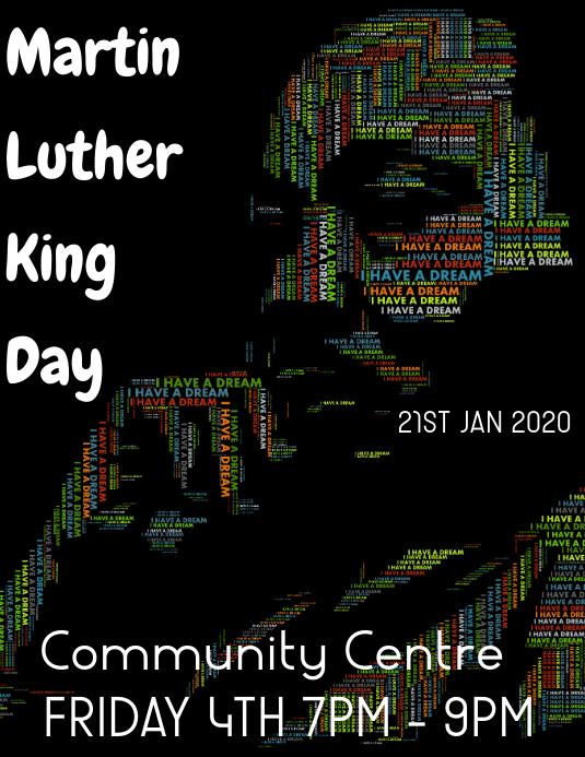 martin luther king day Iflaya (Incwadi ye-US) template