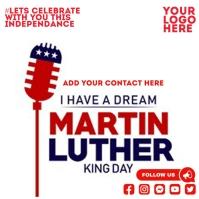 Martin Luther king day Publicación de Instagram template