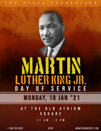 Martin Luther King Day Event .. Volante (Carta US) template