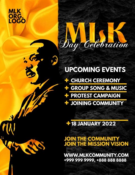 Martin Luther King Jr. Day Event 2021 Template Volante (Carta US)