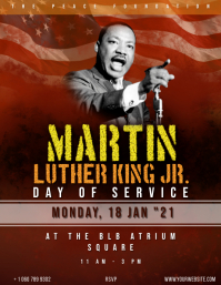 Martin Luther King Day Event flyer .. Volante (Carta US) template