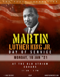 Martin Luther King Day Event flyer Volante (Carta US) template