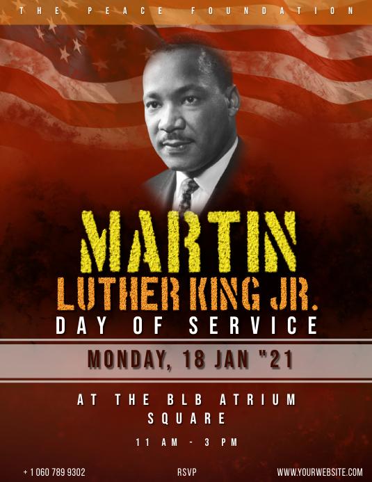 Martin Luther King Day Event flyer Iflaya (Incwadi ye-US) template