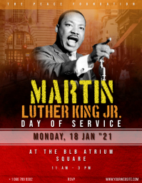 Martin Luther King Day Event flyer template. Volantino (US Letter)