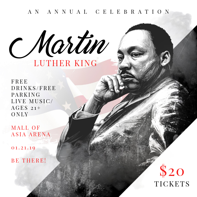 Martin Luther King Day Event Invitation