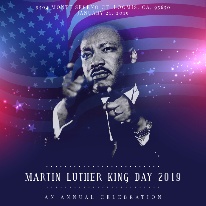 Martin Luther King Day Event Invitation - Modern