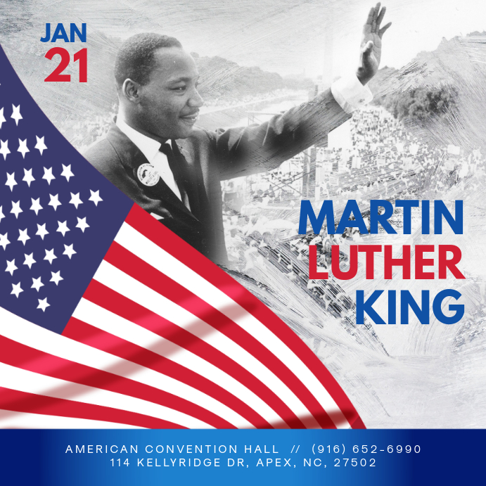 Martin Luther King Day Event Invite