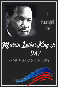 Martin Luther King Day Poster Template