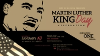 Martin Luther King Day Twitter Post template