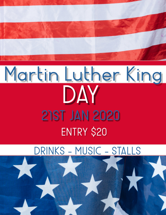 Martin Luther King Volante (Carta US) template