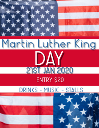 Martin Luther king Flyer (format US Letter) template