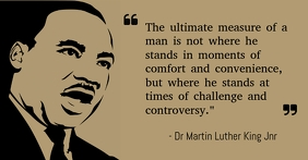 Martin Luther King Facebook Gedeelde Prent template