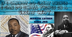 martin luther king รูปภาพที่แบ่งปันบน Facebook template